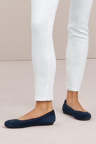 Women's Wide Width Comfort Elastic Slip On Ballet Flat Shoes