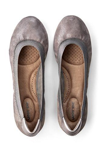 School Uniform Women's Comfort Elastic Slip On Ballet Flat Shoes