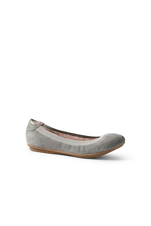 dfd1e8608ae2 Women's Comfort Ballet Pumps in Suede or Leather | Lands' End