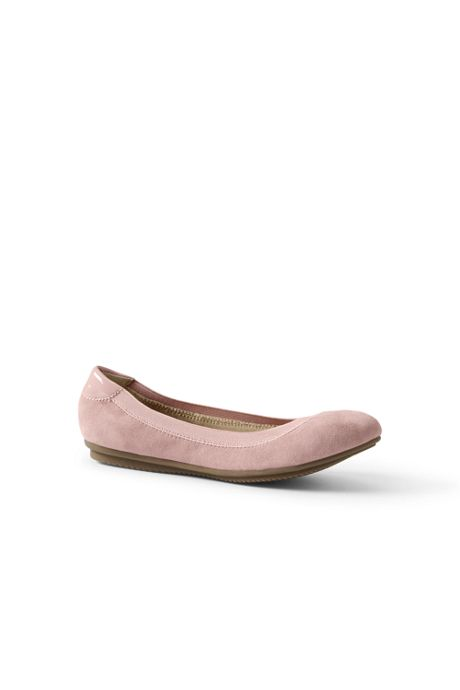 School Uniform Women's Wide Comfort Elastic Ballet Flats