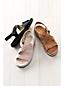 Komfort-Sandalen aus Veloursleder für Damen