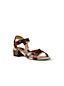 Women's Scalloped Block Heel Sandals