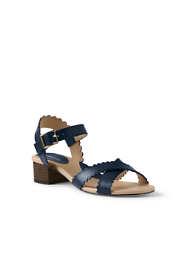 Women's Heeled Scallop Sandals