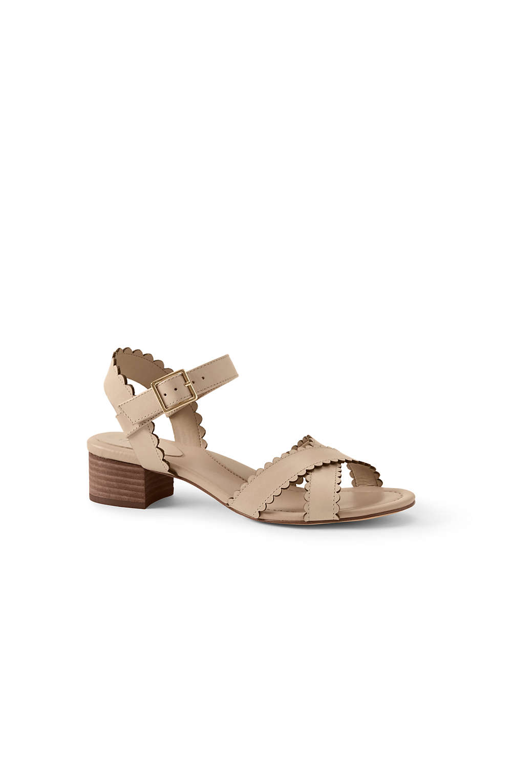 0a4bfbf7e6ef Women's Heeled Scallop Sandals from Lands' End