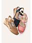 Les Sandales Compensées Petits Festons, Femme Pied Standard