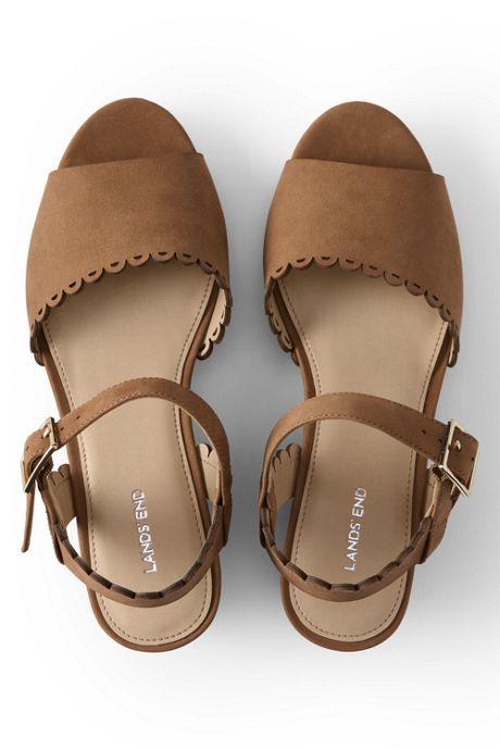 Women's Scallop Wedge Sandals