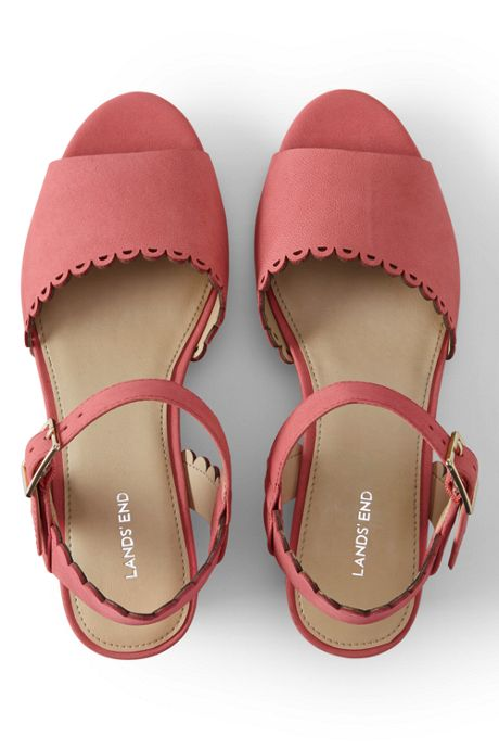 Women's Scallop Wedge Sandals