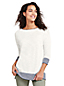 Le Pull Long Ample Rayé Manches 3/4, Femme Stature Standard