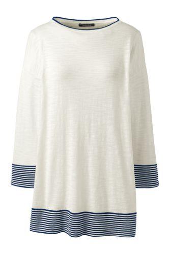 Women's Cotton Blend Striped Top
