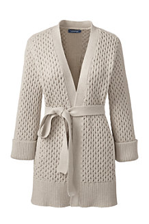 Women's Textured Tie-waist Cardigan