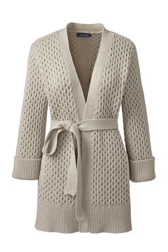 Women's Textured Tie-waist Cardigan
