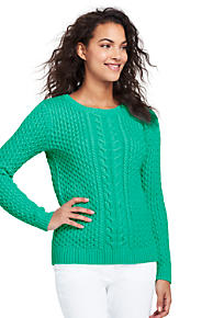 Cotton Sweater & Cardigans at Lands' End Women's Cotton Sweaters