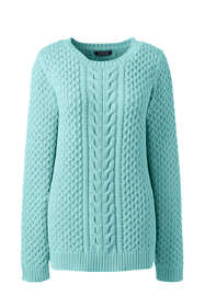Women's Plus Size Drifter Cotton Cable Sweater