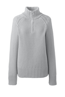 Women's Cotton Shaker Polo Neck Jumper