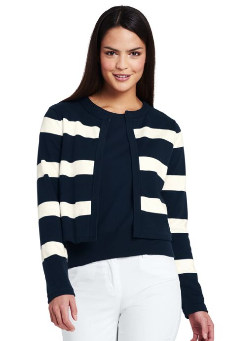 Women's Supima Reversible Cardigan Sweater