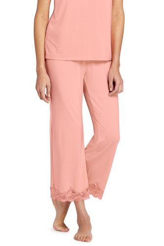 Women's Petite Supersoft Lace Trim Pyjama Bottoms