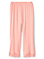 Le Pantalon de Pyjama Court en Modal Stretch et Dentelle, Femme Stature Standard