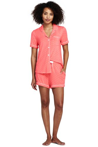 Women's Modal Pyjama Shorts Set Dots
