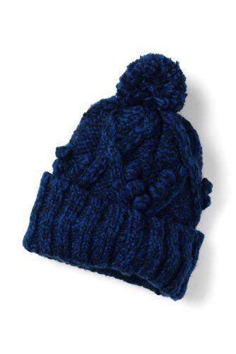Women's Aran Popcorn Stitch Slouchy Hat