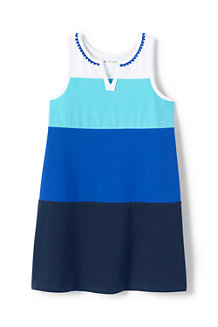 Girls' Colourblock Sleeveless Tunic Top