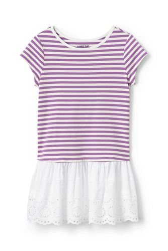 Girls Eyelet Skirted Tunic Top From Lands End
