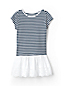 Girls' Skirted Top with Broderie Anglaise Trim