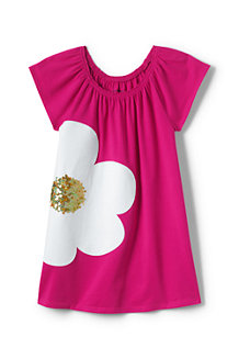 Girls' Gathered Graphic Long T-shirt