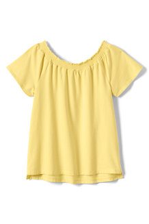 Girls' Gathered Neck Top