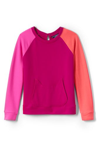 Little Girls' Lightweight Cat-pocket Sweatshirt