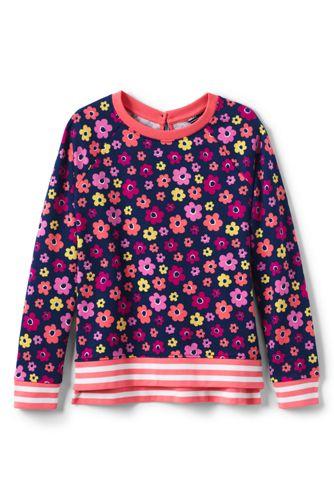 Le Sweatshirt Léger à Motifs, Petite Fille
