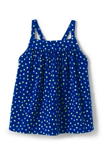 Little Girls' Patterned Strappy Top