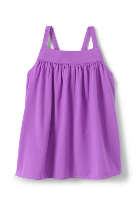 Girls Solid Knit Tank Top