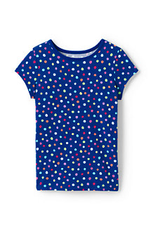 Girls' Core Crewneck Pattern T-shirt
