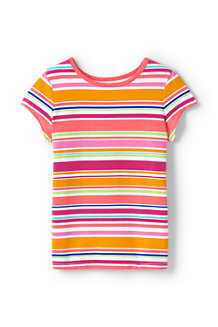 Le T-Shirt à Motifs en Coton Stretch, Fille