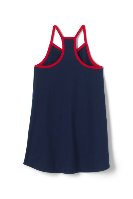 Girls Strappy Graphic Tunic Top
