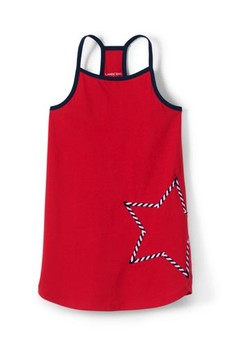 Little Girls' Racerback Graphic Tunic Top