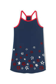 Little Girls Strappy Graphic Tunic Top