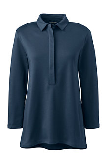 Women's Three-quarter length sleeve Pima Polo Shirt