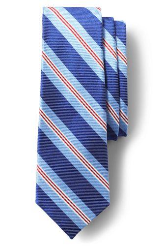 La Cravate Rayée en Soie et Coton, Homme