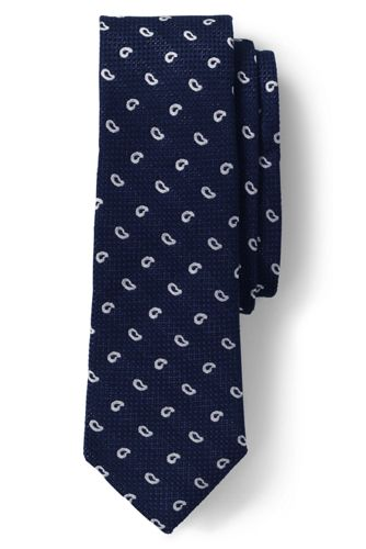 men's silk linen grenadine paisley tie