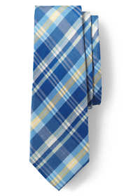 Men's Silk Linen Plaid Tie
