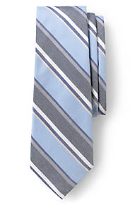 Mens Melange Multi Stripe Tie - BLUE Lands End