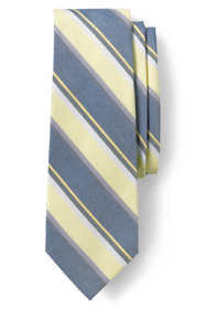 Men's Silk Linen Stripe Tie
