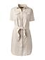 Leinen-Hemdblusenkleid im Worker-Stil für Damen