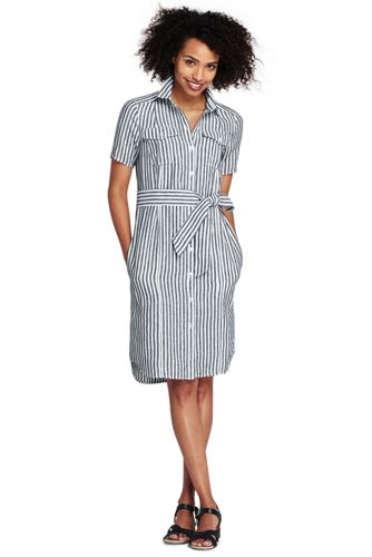 507c9c74 Women's Print Utility Linen Shirt Dress