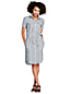 Women's Print Utility Linen Shirt Dress