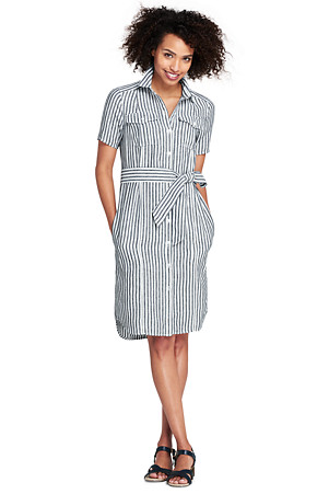 96fc3508a81 Women s Print Utility Linen Shirt Dress