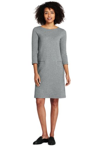 Women's 3-quarter Sleeve Ponte Shift Dress