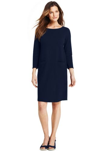 Women's Shift Dress in Ponte Jacquard