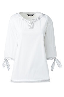 Women's Tunic Top with Tie Sleeves